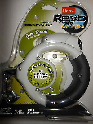 Hartz Revo Reflective Retractable Leash Dog Lead for dogs up to 50 lbs