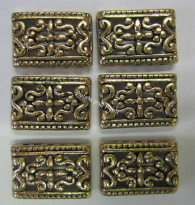 6 x 5 Hole Metal Spacer Bead For Beading & Jewellery Making Bohemian Gold Tone