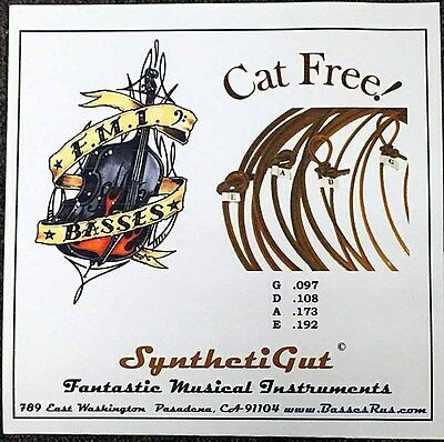 FMI Synthetic Gut BASS STRINGS CLOSER TO GUT SOUND D and G STRINGS SLAP OR PLUCK