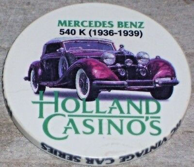 Ltd 1 Euro Vintage Car Series  Gaming Chip From The Holland Casino