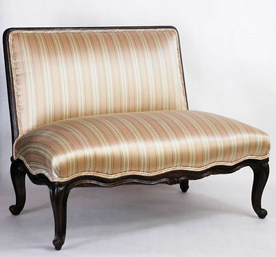 Antique French Provincial Loveseat Window Bench Circa 19th