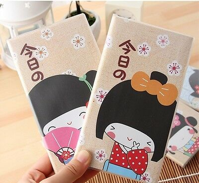 """Kimono Girl"" 1pc Mini Diary Pocket Cute Notebook Journal Planner Korean Gift"