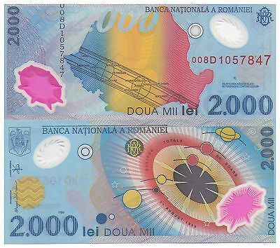 1999 2000 Romania Lei Polymer Banknote - Uncirculated - Pick 111