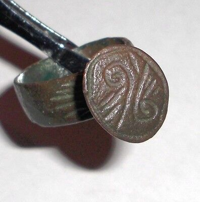 Byzantine Empire, 8th - 10th c. AD. Bronze  Intaglio Signet Ring