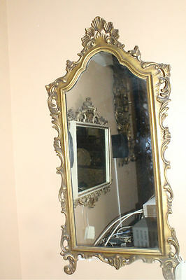 French Italian Gillded Carved Mirror with Carved Frame, Circa 19th