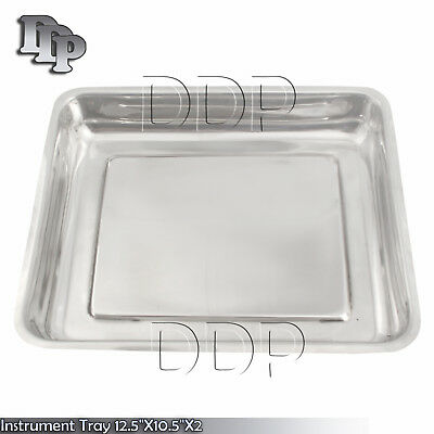 """Instrument Tray 12.5""""X10.5""""X2 Dental veterinary Surgical Instruments"""