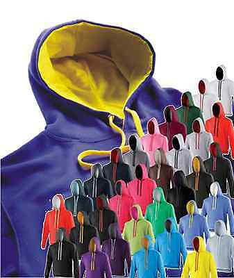 Just Hoods by AWDis Varsity College Hoodie Twotone 32 Contrast Colours JH003
