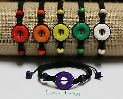Adjustable Polymer Clay Mint Fruit Polo Shamballa Style Bracelet Food Sweet