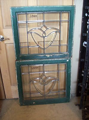 beveled glass window small tulip  (SG 1506)