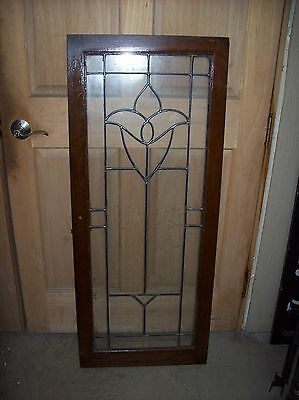 3 available matching tulip lat glass leaded cabinet doors   (SG 1510)
