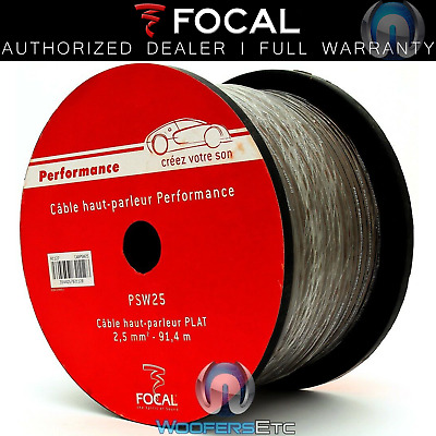 Focal Psw25 300 Feet Performance 13 Gauge Home Car Audio Flat Speaker Wire Cable