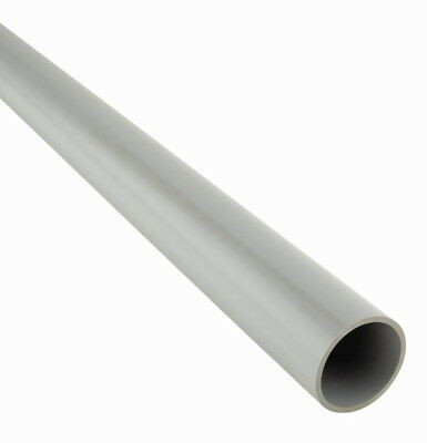 Push-fit Waste Pipe 500mm Length 1-1/4  1-1/2 Inch Available in Black/White/Grey
