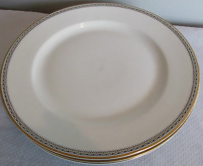 """PATTERN CLARIDGE BY HEINRICH H AND CO. 3 LOT  9 3/4"""" DINNER PLATES GEOMETRIC"""