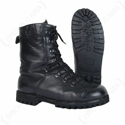 German Army COMBAT BOOTS - Cadets Military Leather Soldier Surplus Para Trooper
