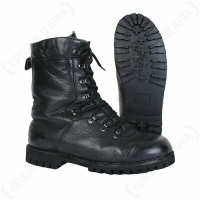 German Army Combat Boots - Winter Stitched Leather Military Cadet Patrol Surplus