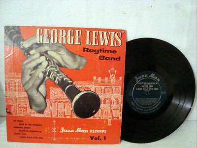 Old Antique 10 Inch Jazz Lp George Lewis Ragtime Band Volume1 Rare Jazzman Label