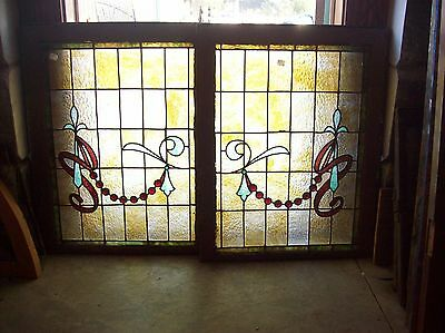 Very cool window pair drapery jewels     (Sg 1527)
