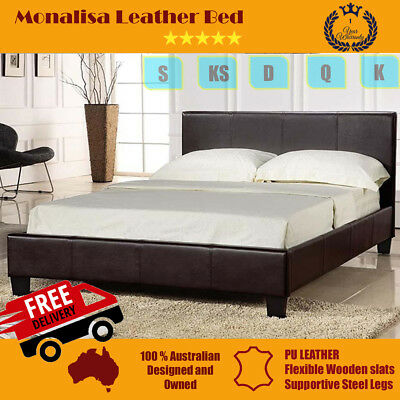 Brand New Monalisa PU Leather Bed Frame -Free Shipping* Single/Double/Queen/King