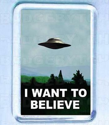 I Want To Believe - X-Files Small Fridge Magnet -  Cool!