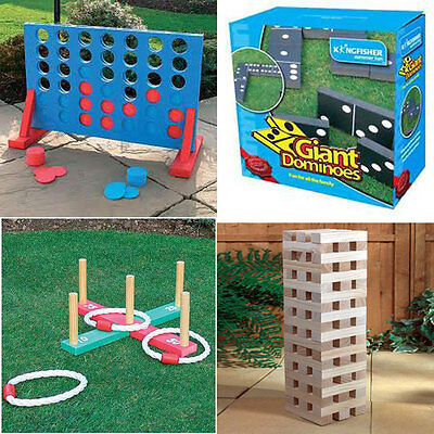 New Garden Lawn Bbq Party Games Giant Jenga/dominoes /connect 4 In A Row /quoits