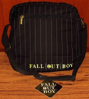 FALL OUT BOY Band Emo Rock Purse Messenger Bag Handbag Keyhole Striped New  NWT 0b2cf934f4