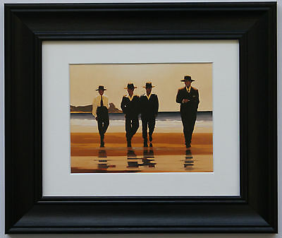 The Billy Boys by Jack Vettriano Framed & Mounted Art Print Picture Black Frame