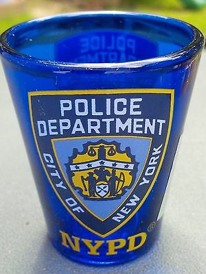 Nypd City Of New York Police Department Shot Glass Kobalt