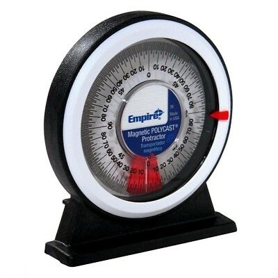 Empire Magnetic Polycast Inclinometer Protractor Angle Find Satellite Dish, Weld