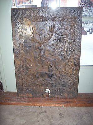 Cast iron Deer figure Fire front plate (F E)