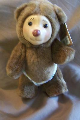 "RAIKES BEAR ROBBIE NURSERY MINIATURES SERIES 7"" TALL"