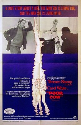 POOR COW 1968 Carol White, Terence Stamp KEN LOACH Nell Dunn US 1-SHEET POSTER