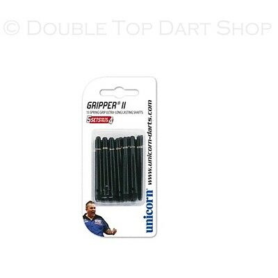 5 x Sets Unicorn Gripper 2 Black Dart Stems Shafts - Value Pack - Short / Medium