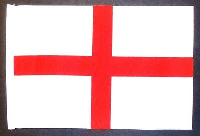"ST GEORGE CROSS ENGLAND BUDGET FLAG small 9""x6"" GREAT FOR CRAFTS ENGLISH"