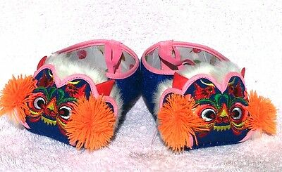 New Hand Made Chinese baby Red Tiger shoes 6-18 monthes, Royal Blue