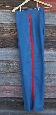 civil war light blue trousers with 1 inch red stripe  46