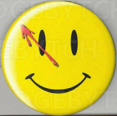 Watchmen Smiley Round Fridge Magnet - Cool!