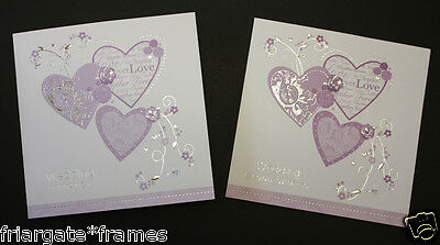 Wedding Evening Reception and Day  Invitations Lovely Lilac Embossed Design