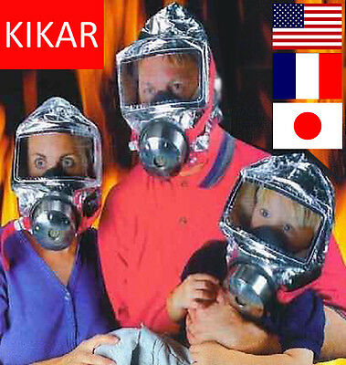 Disposable Escape Hood Face Mask Safety Breathe CO2 Easy Safe Fire Smoke Fighter