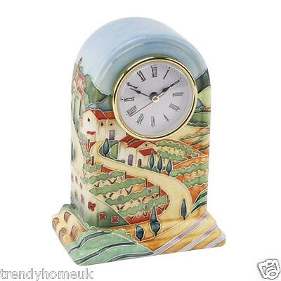 Brand New Old Tupton Ware Tuscan Fields Mantel Clock by Jeannie McDougall TW7505