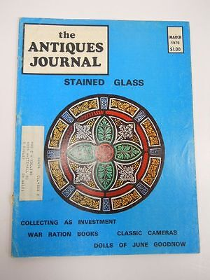The Antiques Journal Magazine March 1975 Issue Stained Glass