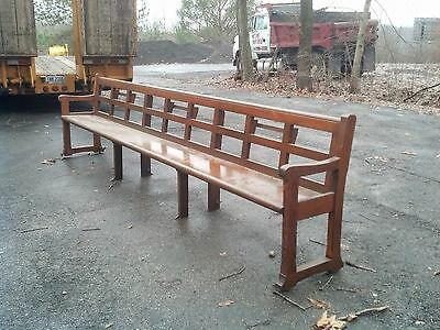 Arts and crafts Long Oak Bench
