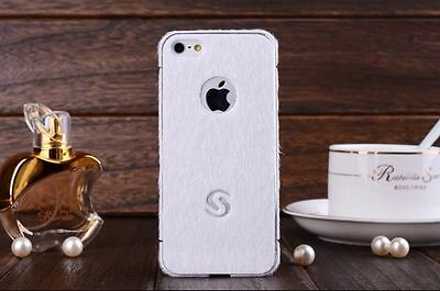 Stick Screen Faux Hair phone Stick cover for iPhone 5/5S (WHITE)