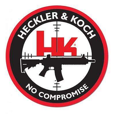 "Heckler & Koch Firearms No Comromise 4"" Decal Sticker Hk Pistol Gun Rifle"