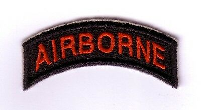 "WWII - AIRBORNE Tab ""Black/Red""(Reproduction)"