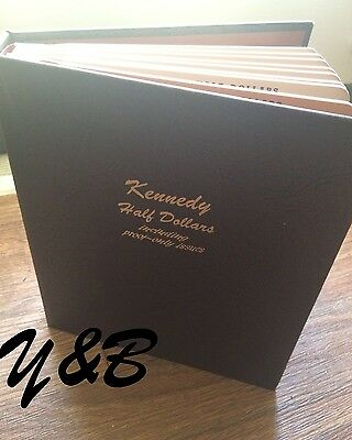 COMPLETE SET  KENNEDY HALF DOLLAR 1964-2013 + 2014 PD in DANSCO proof Album