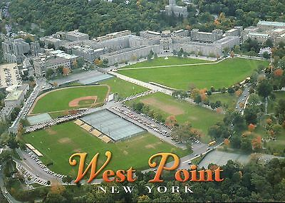 Aerial View US Military Academy West Point, New York, Baseball Tennis - Postcard