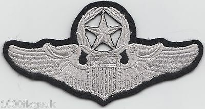 USAF United States Air Force Command Pilot Wings Embroidered Patch Badge *