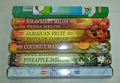 Hem Tropical Exotic Incense 6 x 20 Stick = 120 Sticks Bulk Variety Pack