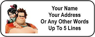 30 Wreck-It Ralph Personalized Address Labels