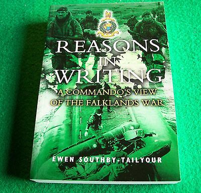 Reasons in Writing: A Commando's View Falklands War: New Paperback slight damage